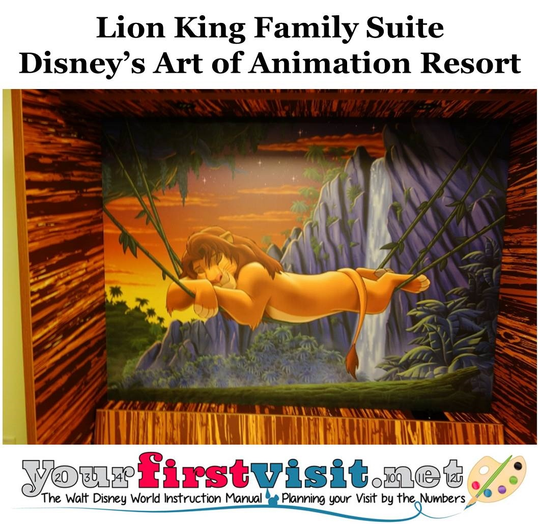 Lion King Family Suite Disney's Art of Animation Resort from yourfirstvisit.net