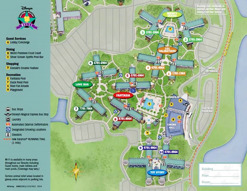 Map Disney's All-Star Movies Resort