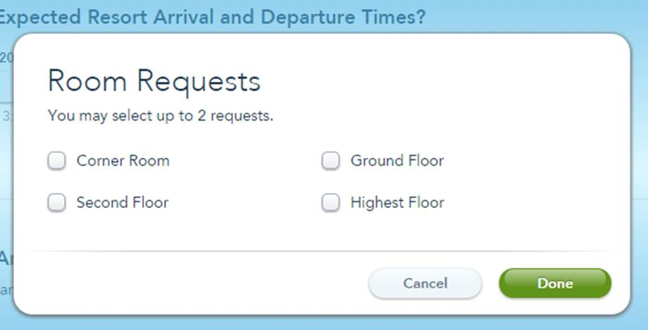 Port Orleans Riverside Room Request Form