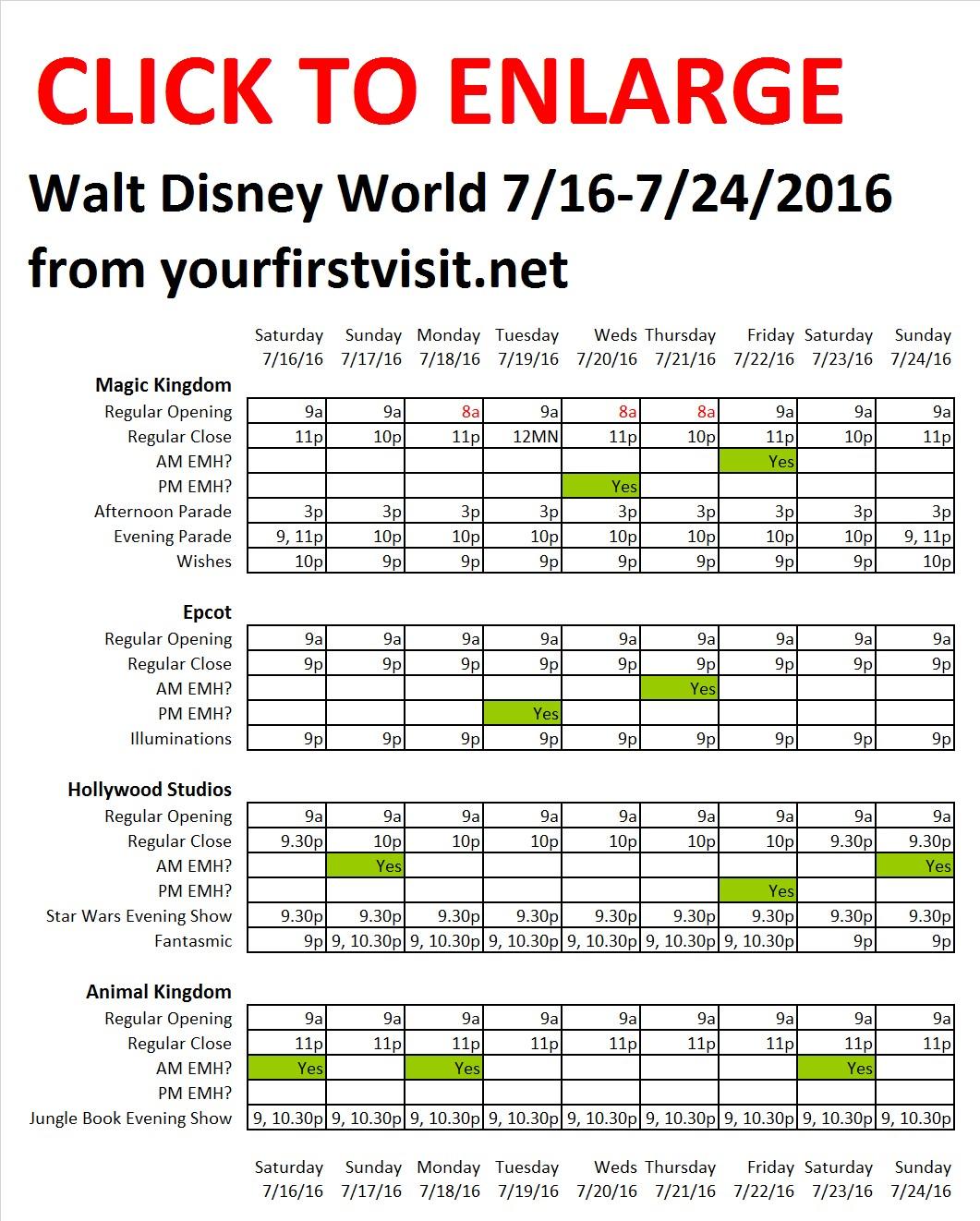 Disney World 7-16 to 7-24-2016 from yourfirstvisit.net