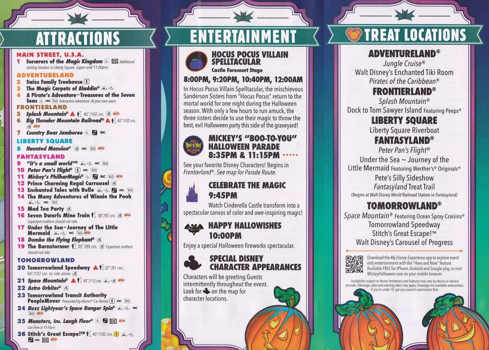Mickey's Not-So-Scary Halloween Party Offerings