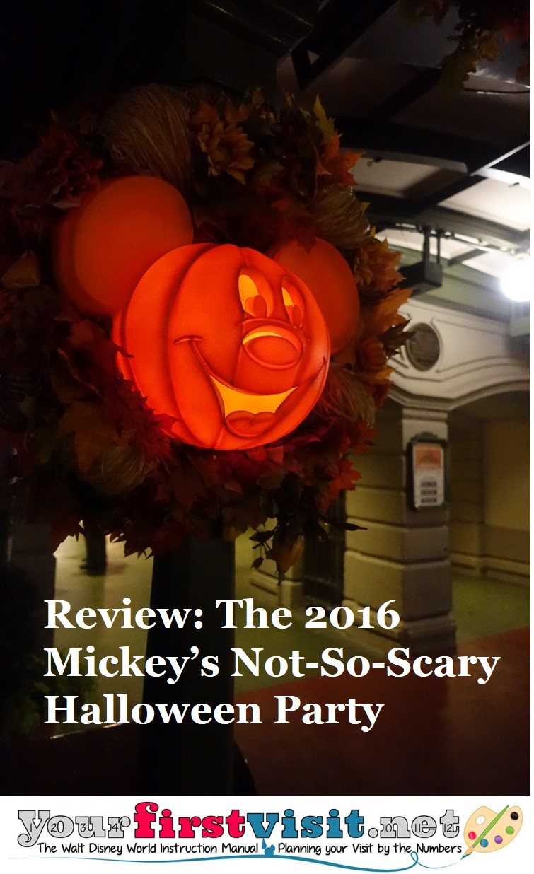 Review ~ The 2016 Mickey's Not-So-Scary Halloween Party from yourfirstvisit.net