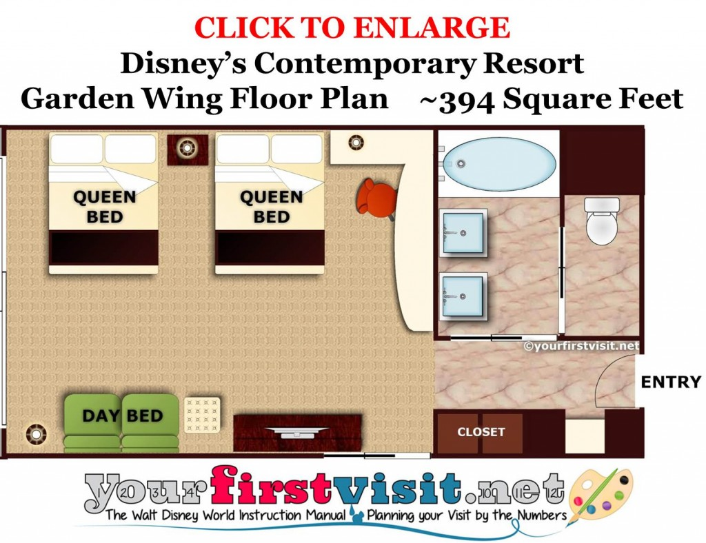 The South Garden Wing At Disney S Contemporary Resort