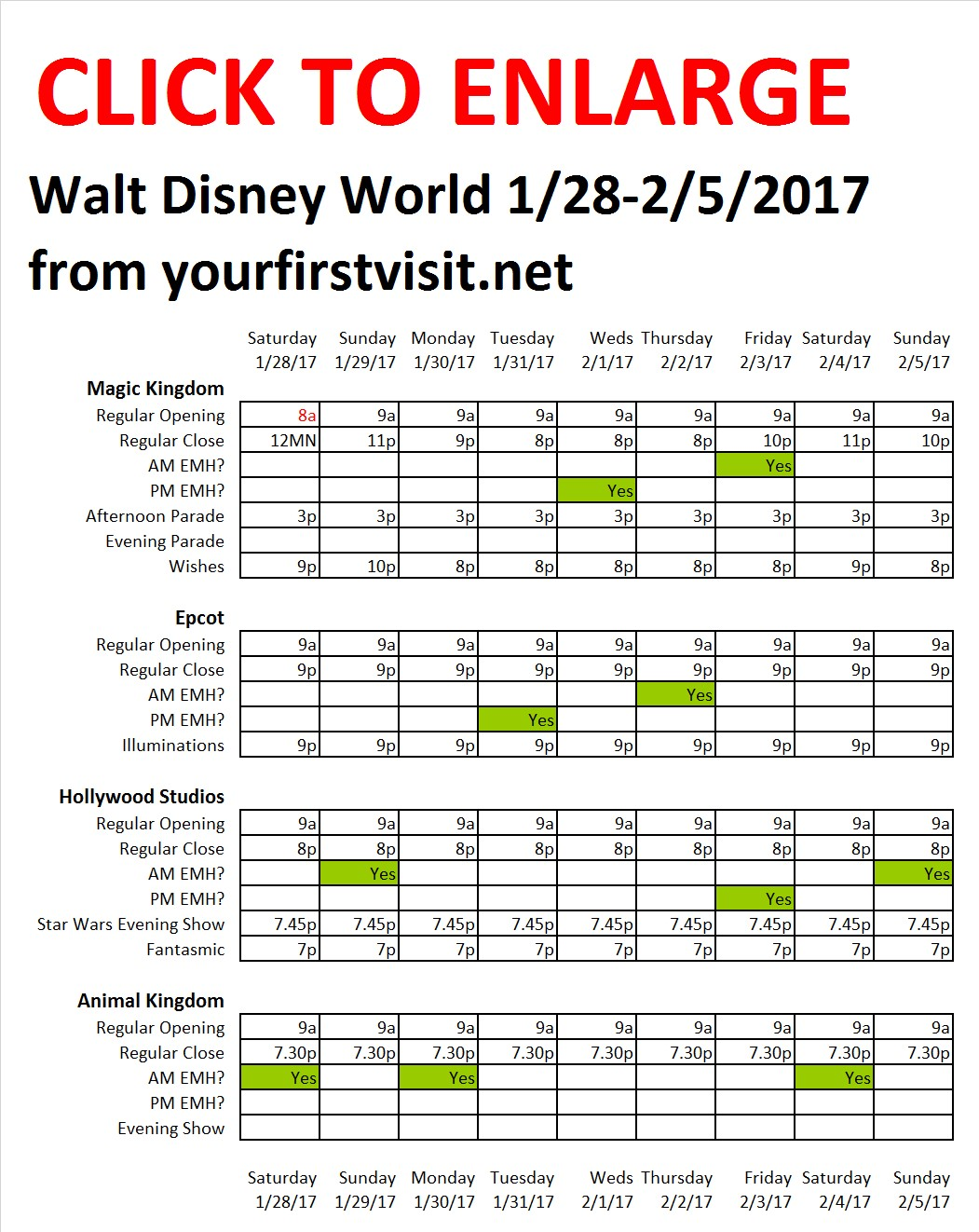 Disney World 1-28 to 2-5-17 from yourfirstvisit.net