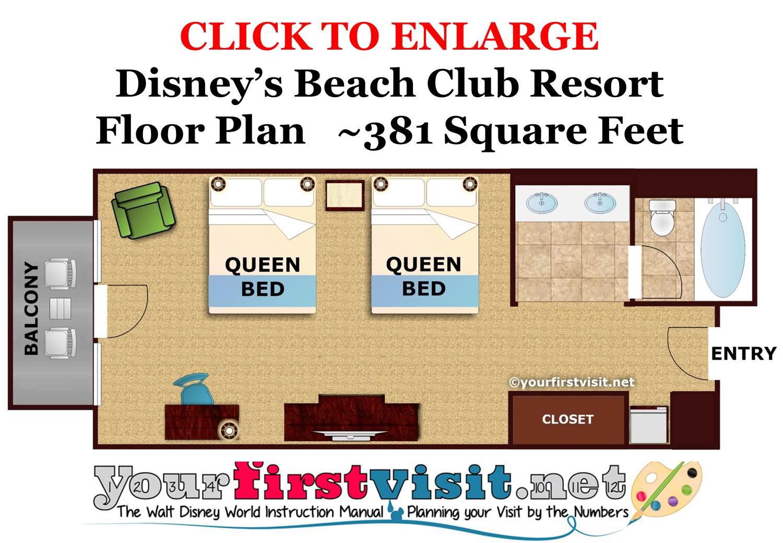 Floor Plan Disney's Beach Club Resort from yourfirstvisit.net