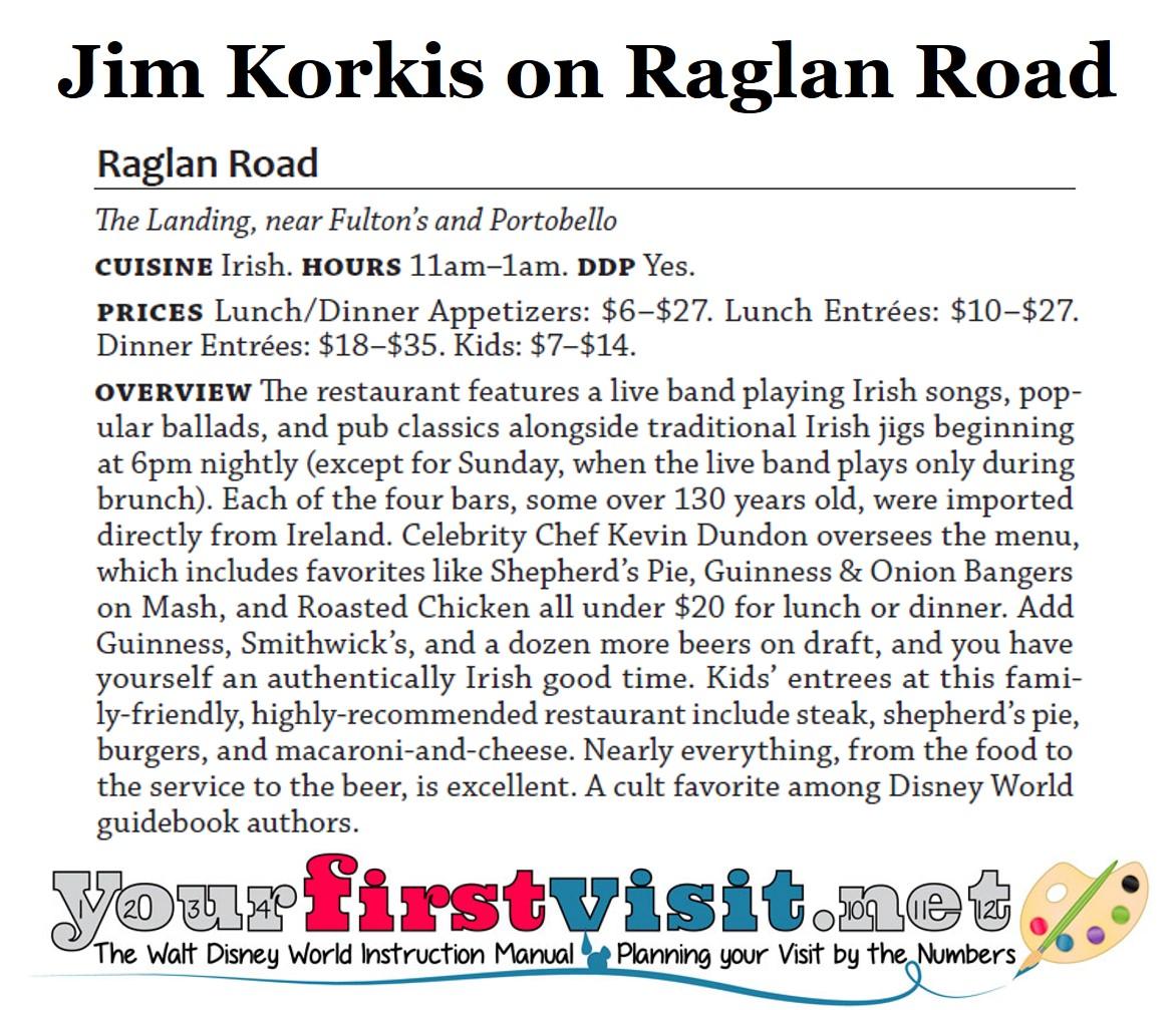 Jim Korkis on Raglan Road from yourfirstvisit.net