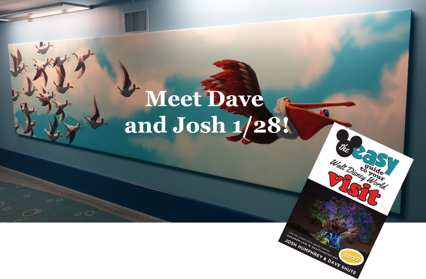 Meet Dave and Josh 1-28 at Epcot at 1p