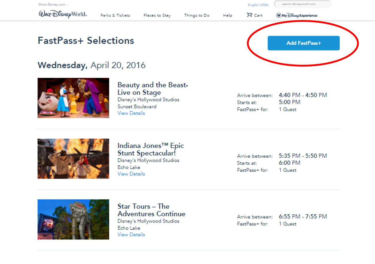 Add FastPass+ from yourfirstvisit.net