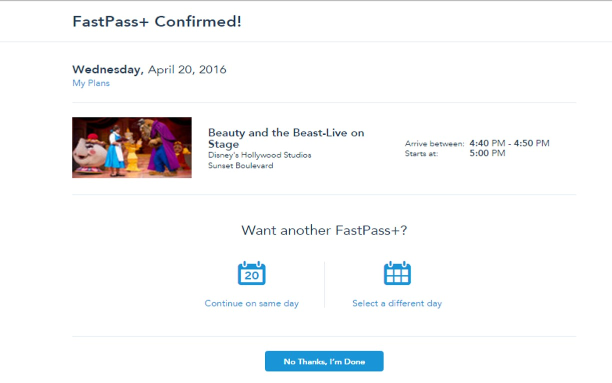 Confirmed for FastPass+ from yourfirstvisit.net