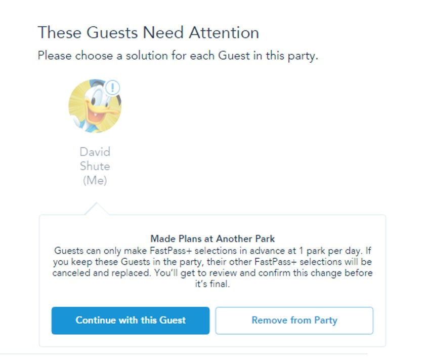 Conflicts for FastPass+ from yourfirstvisit.net