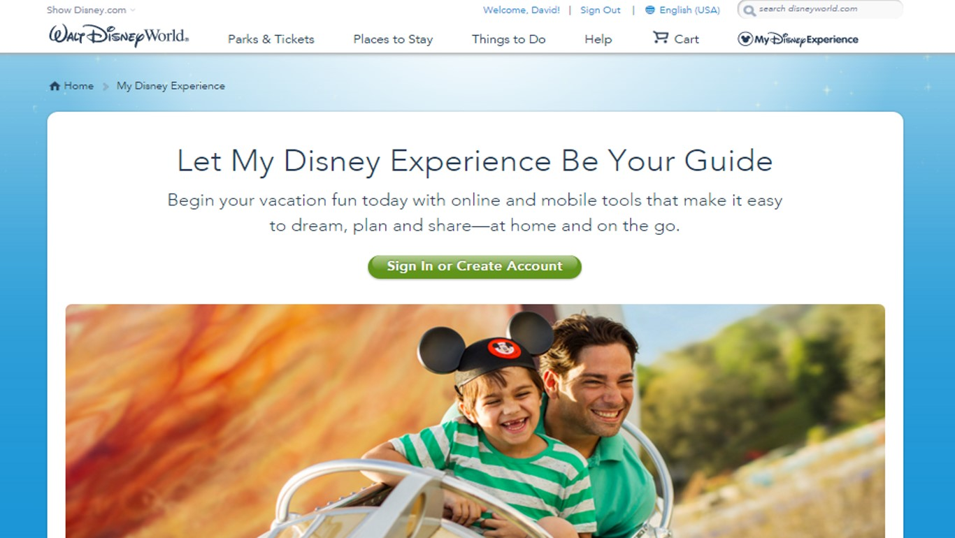 My Disney Experience for FastPass+ from yourfirstvisit.net