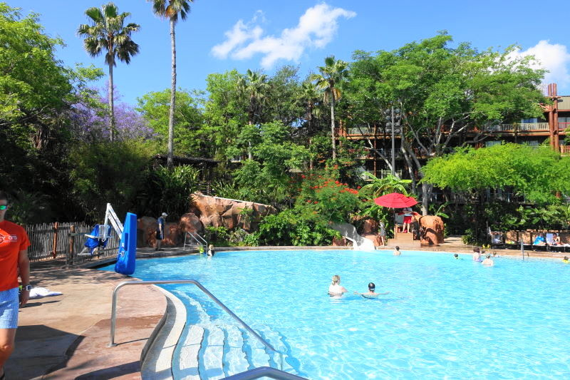 Uzima Pool at Disney's Animal Kingdom Lodge from yourfirstvisit.net