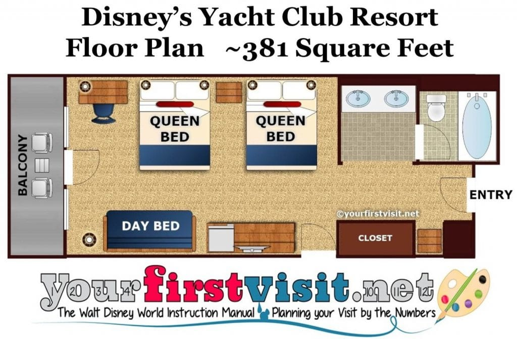 Photo Tour Of A Standard Room At Disney S Yacht Club