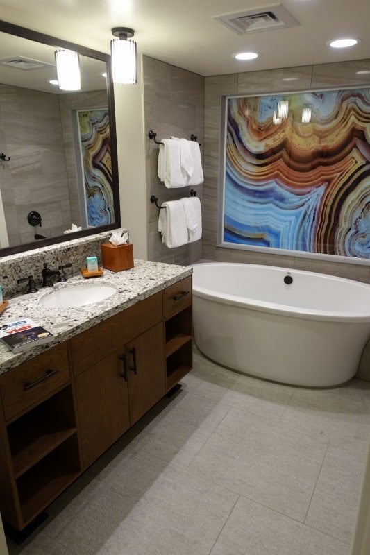 The Bath And Master Bedroom Spaces Of One And Two Bedroom