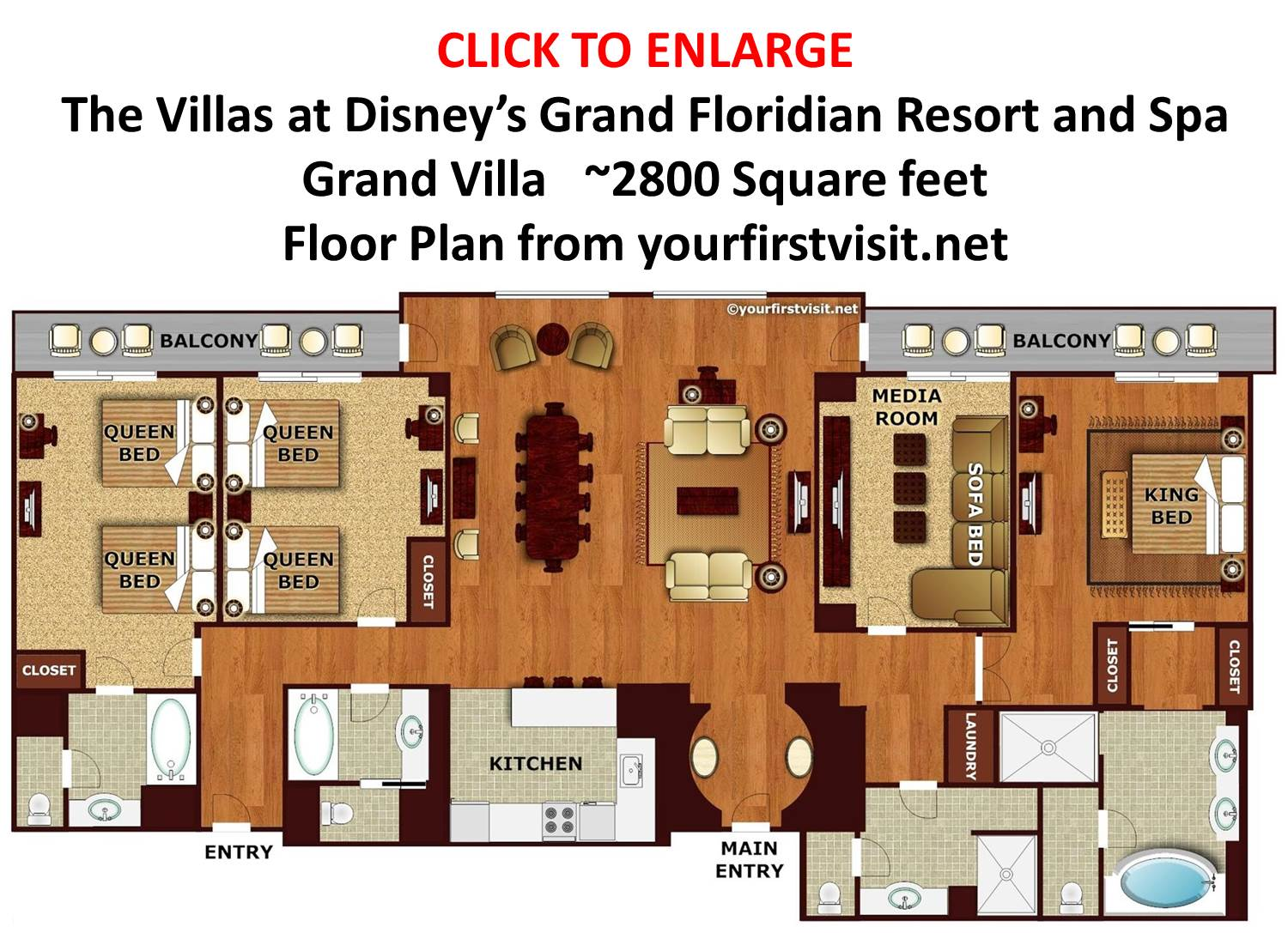 Cascade Floor Plan Copper Creek Villas At Disney S Wilderness Lodge
