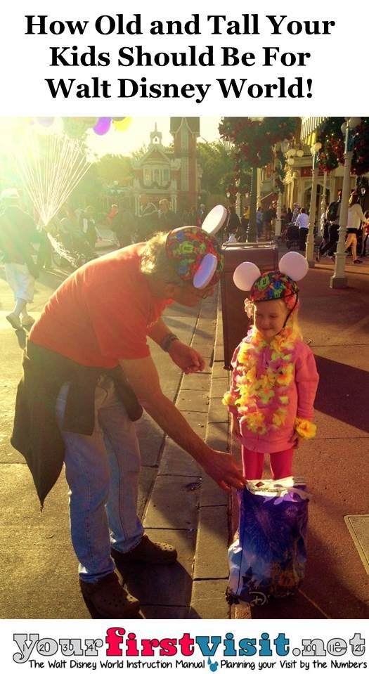 How Old and Tall Your Kids Should Be For Walt Disney World from yourfirstvisit.net