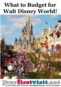 What to Budget for Walt Disney World from yourfirstvisit.net