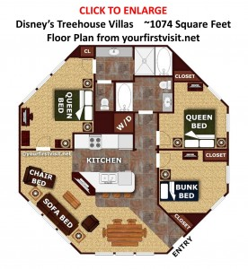 Disney's Treehouse Villas floor plan from yourfirstvisit.net