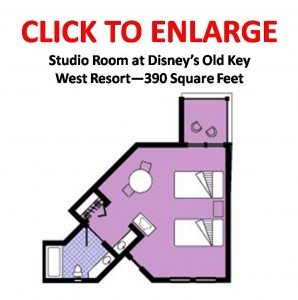 Disney's Old Key West Resort, Studio Floorplan