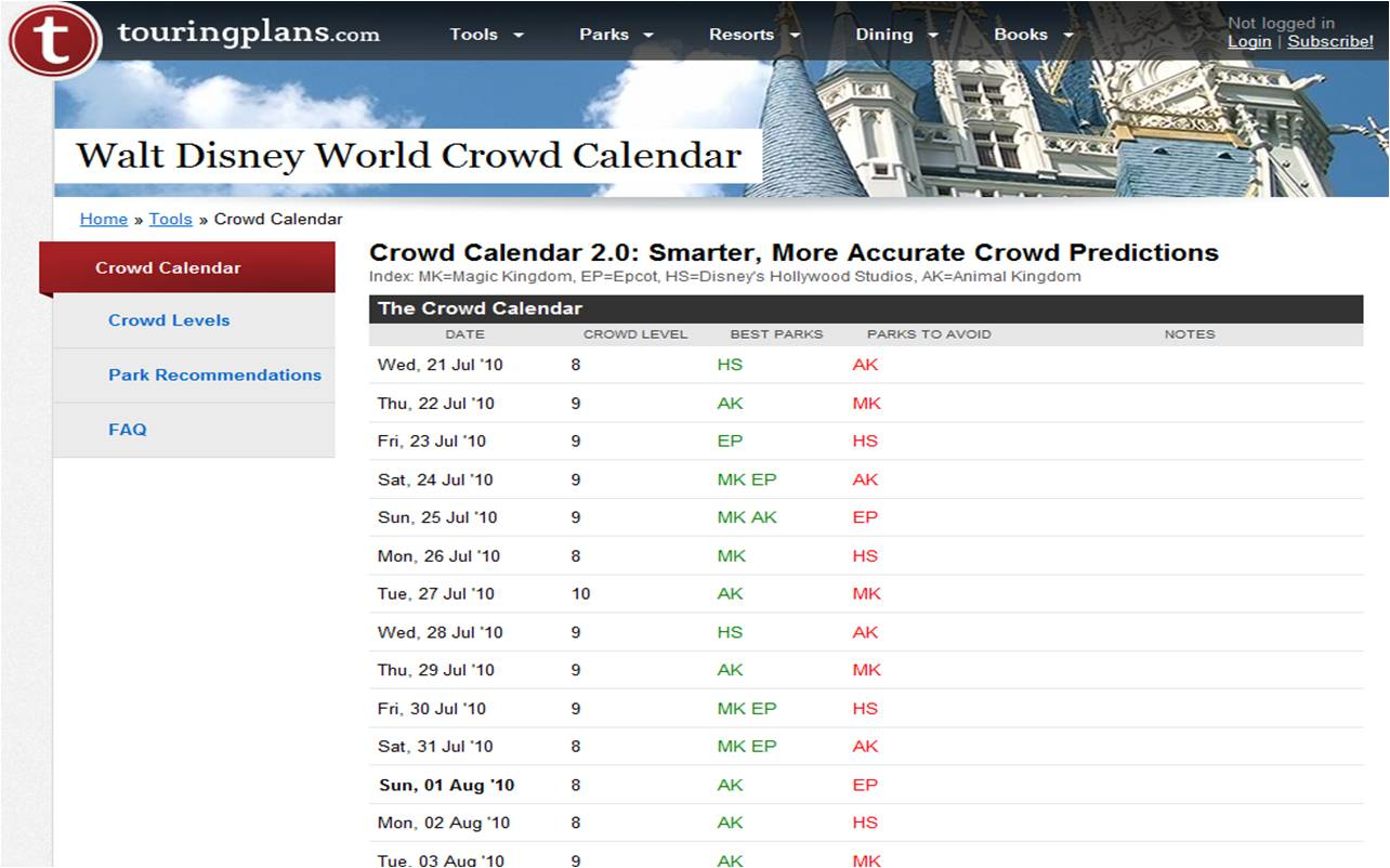 This Crowd Calendar Has Long Been A Staple For Disney World Visitors First In The Unofficial Guides Then As Free Service On Touringplans