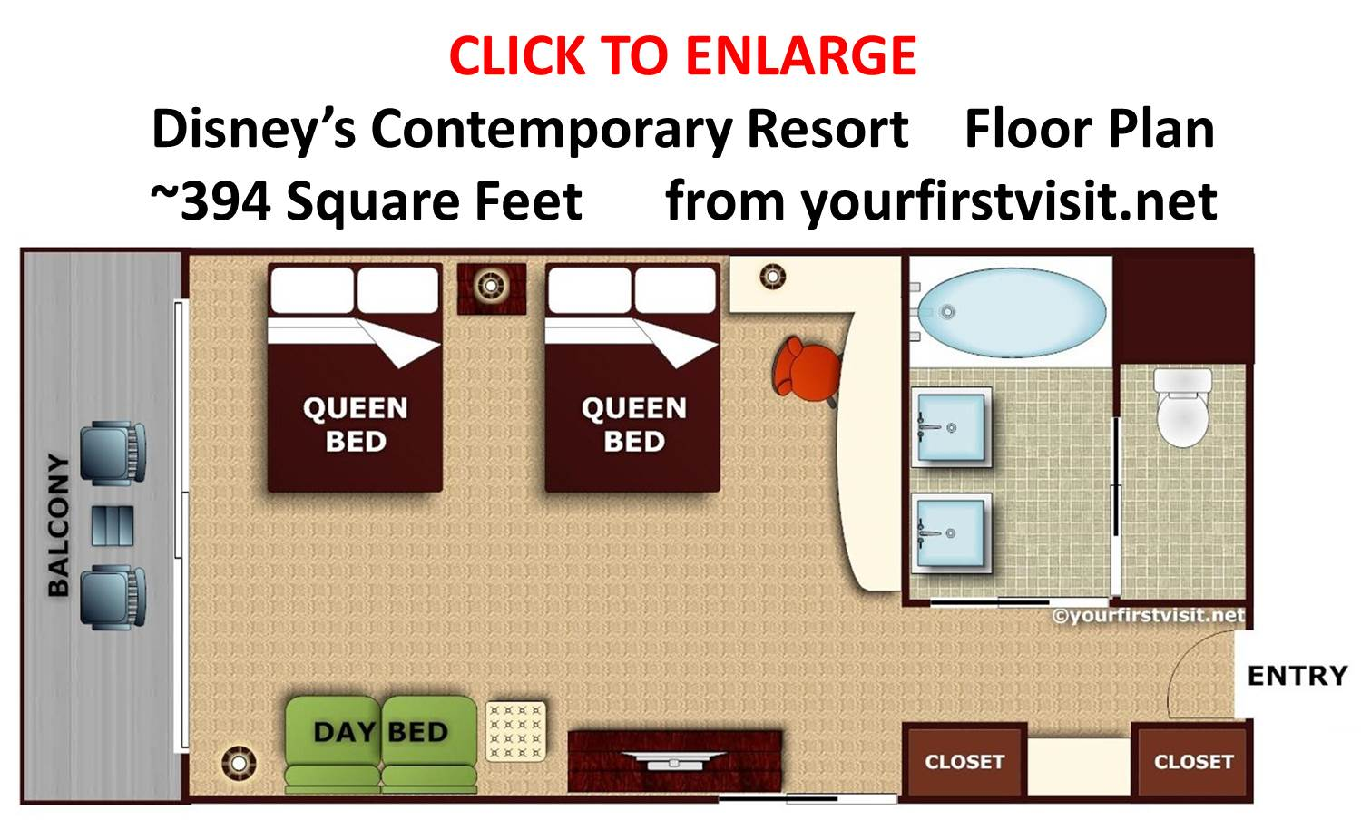 Review disney 39 s contemporary resort continued for Buy floor plan