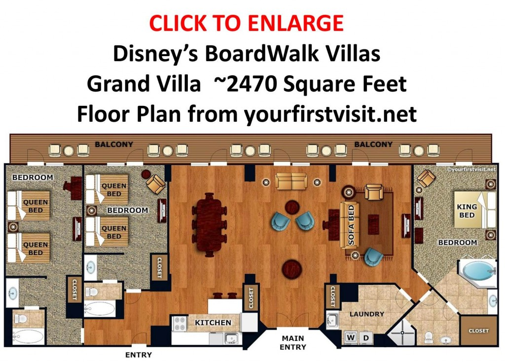 Disney's BoardWalk Villas Grand Villa Floor Plan from yourfirstvisit.net