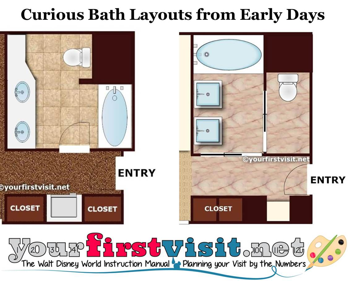 Curious Disney World Bath Layouts from yourfirstvisit.net