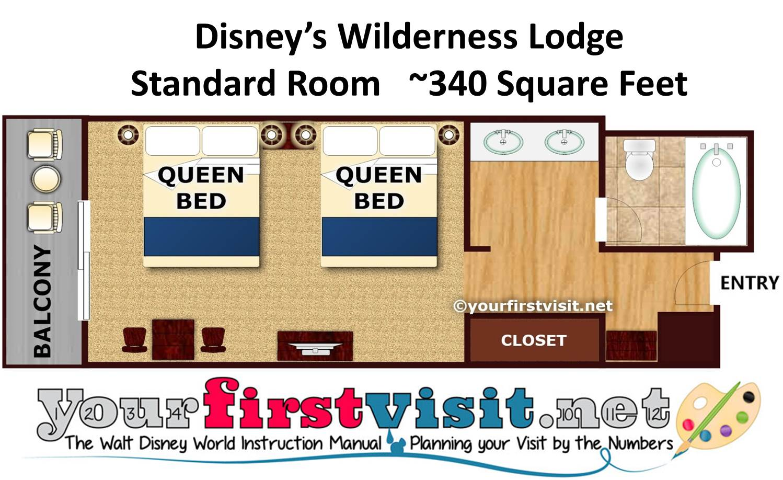 Disney's Wilderness Lodge Floor Plan from yourfirstvisit.net