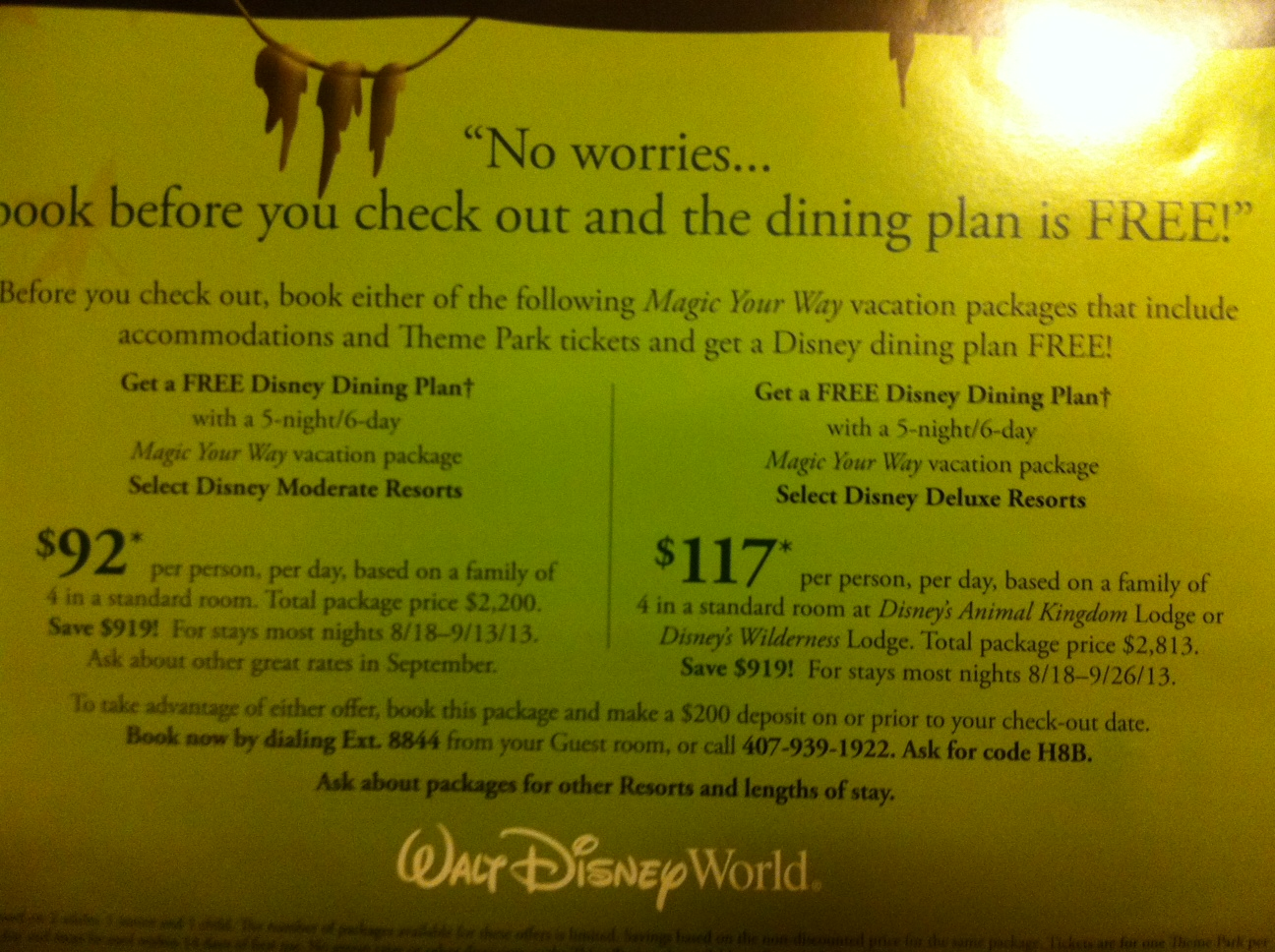 Free disney dining plan 2016 dates - 2013 Free Disney World Dining Dates