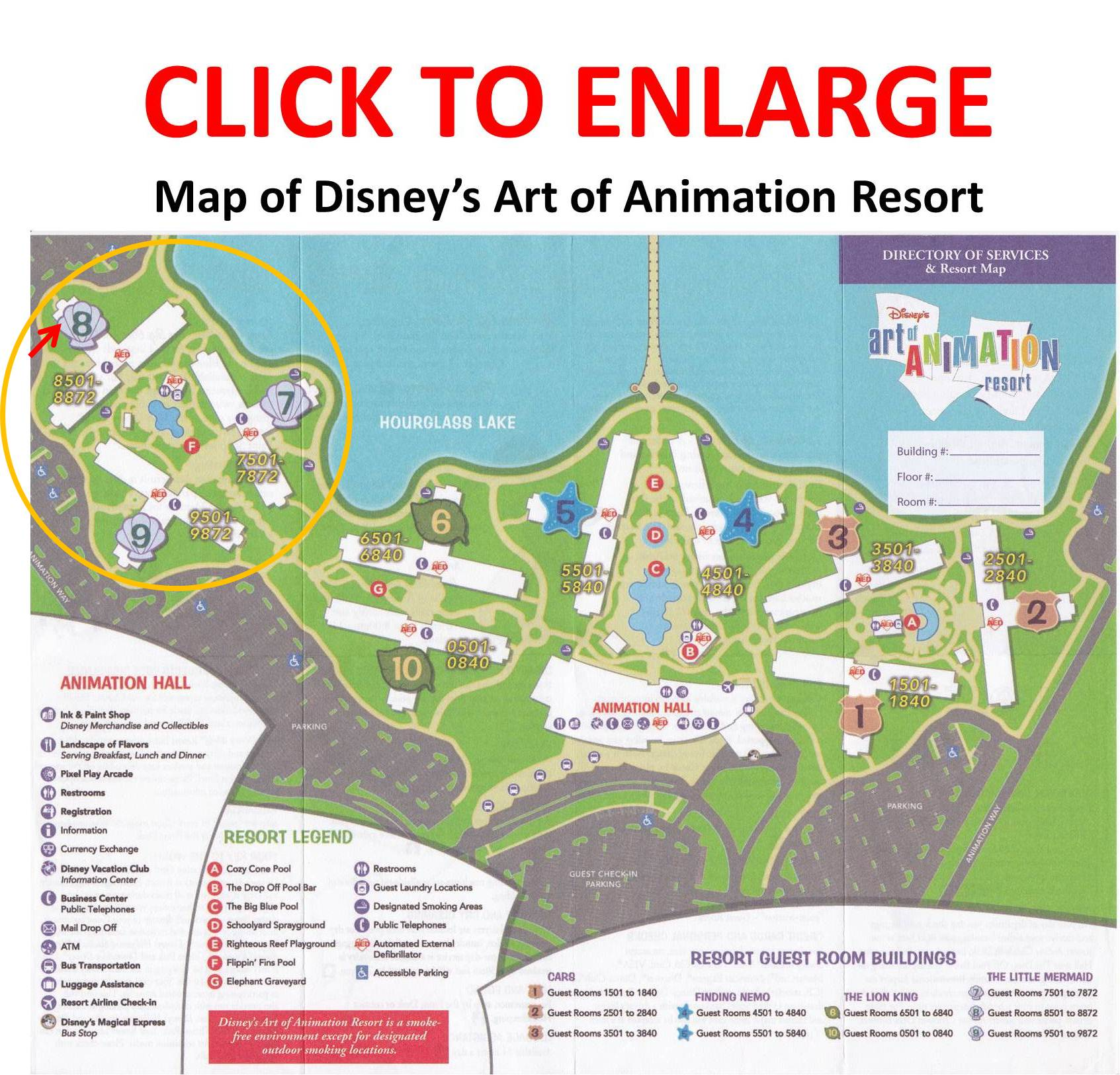 THE FURTHEST LITTLE MERMAID ROOMS ARE ABOUT A SEVEN MINUTE WALK FROM ANIMATION HALL