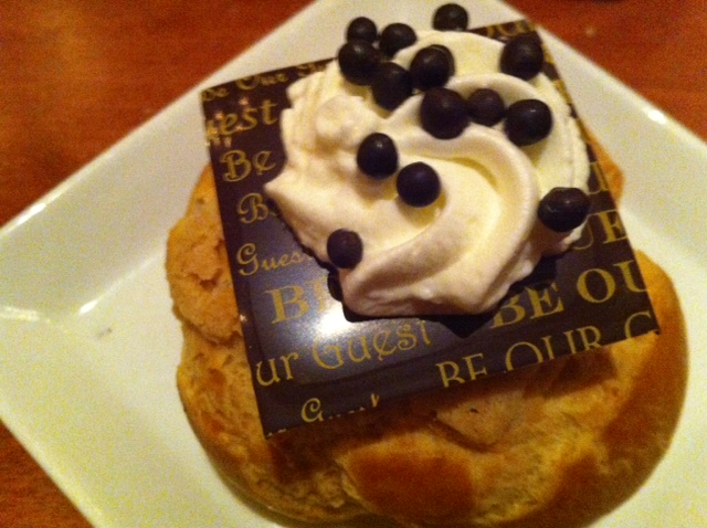 Chocolate Cream Puff at Be Our Guest Restaurant at the Magic Kingdom