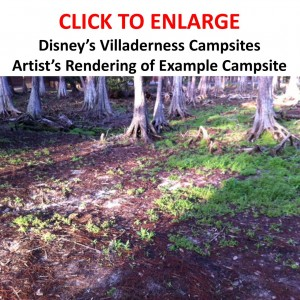 Campsite at the New Disney Vacation Club Offering--Disney's Villaderness Campsites