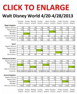 Disney World 4-20 to 4-28-2013