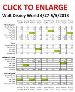Disney World 4-27 to 5-5-2013