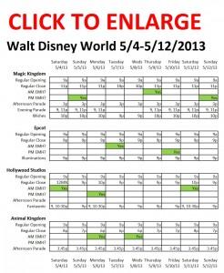 Disney World 5-4 to 5-12-2013