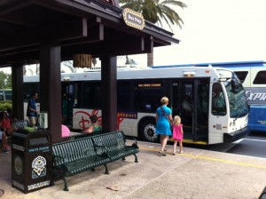 Bus Stop at Disney's Polynesian Resort