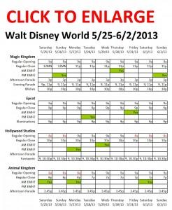 Disney World 5-25 to 6-2-2013