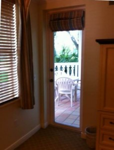 Porch Entrance from Master Bedroom Disney's Old Key West Resort