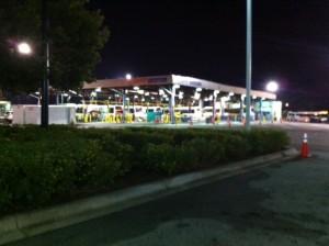 Where Buses Gather to Sleep at Night