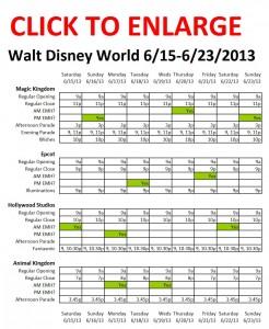 Disney World 6-15 to 6-23-2013