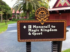TTC Monorail and Disney's Polynesian Resort