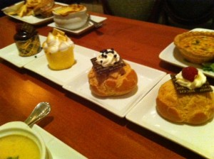 Cupcakes and Cream Puffs at Be Our Guest Restaurant at the Magic Kingdom
