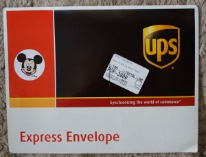FastPass+ UPS Envelope Invitation from yourfirstvisit.net