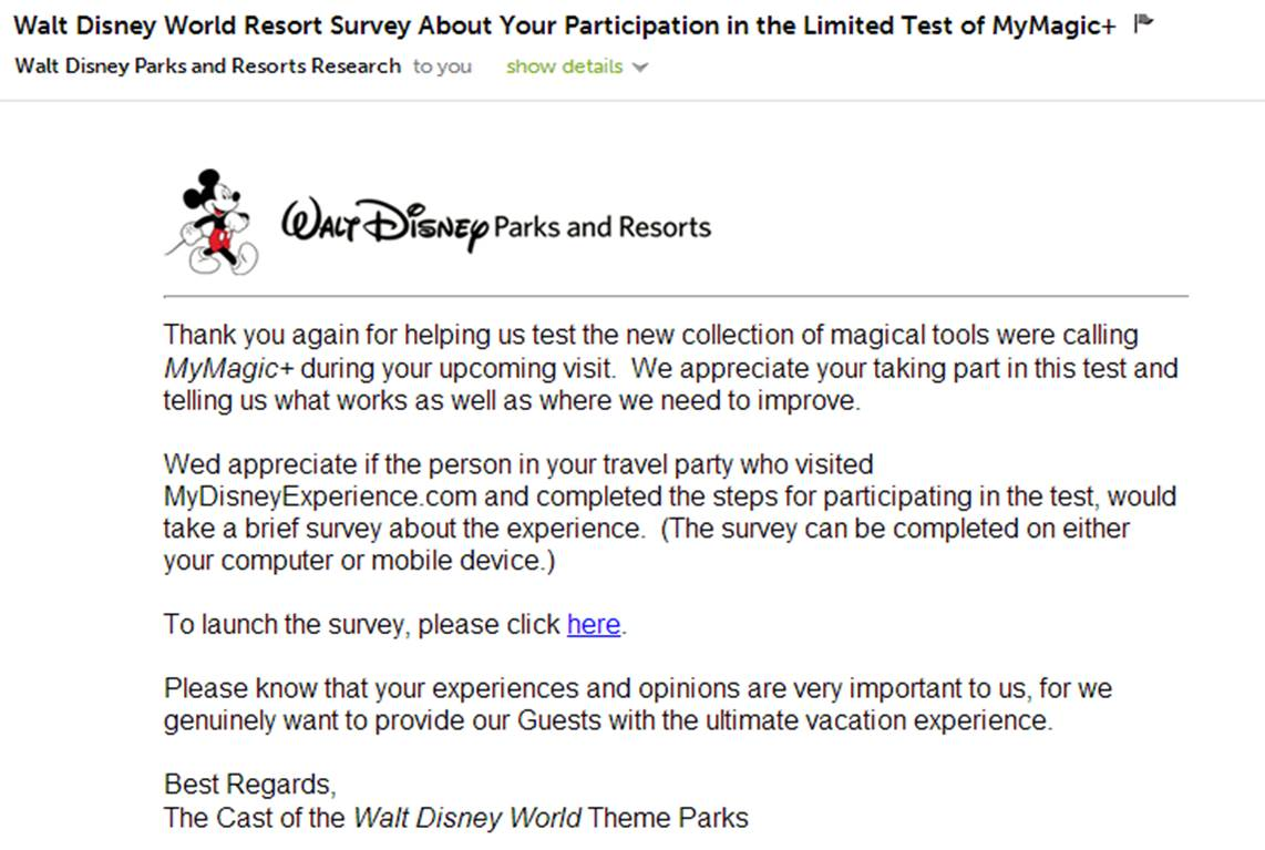 Fastpass survey from disney world asks the right questions disney world fatspass survey email invitation with typo from yourfirstvisit stopboris Gallery