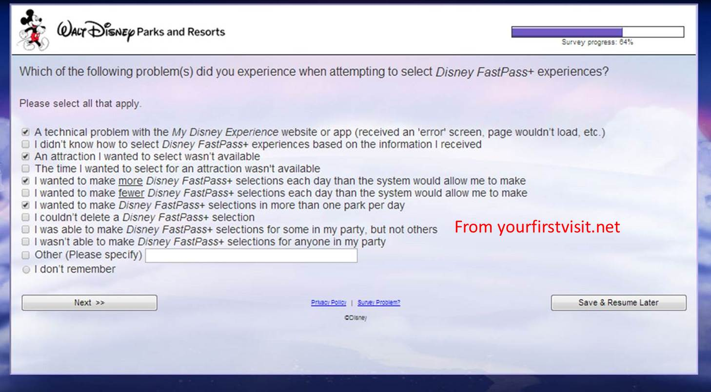 addresses for surveys fastpass survey from disney world asks the right 1959