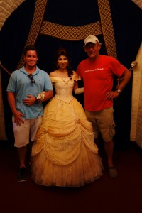 Me and Son #2--Oh and Belle, too--at Akershus from yourfirstvisit.net