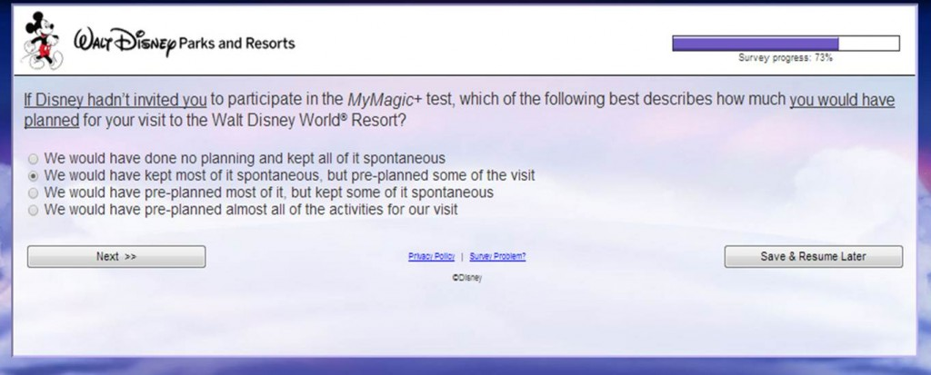 MyMagic+ Survey and Spontaneity from yourfirstvisit.net