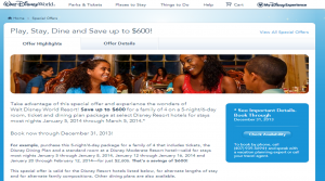 Play Stay Dine 2014 Disney World Deal from yourfirstvisit.net