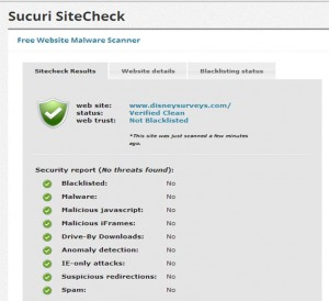 Sucuri Check of disneysurveys.com from yourfirstvisit.net