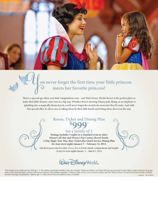 Disney World 2014 Deal Aimed at First Visits from yourfirstvisit.net